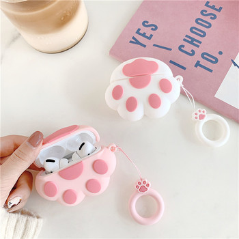 Cute Cat Paw Case for Apple Airpods Pro Cover Bluetooth Earphone Case for Airpod Cover for Air pods Pro Charging Box Silicone фото
