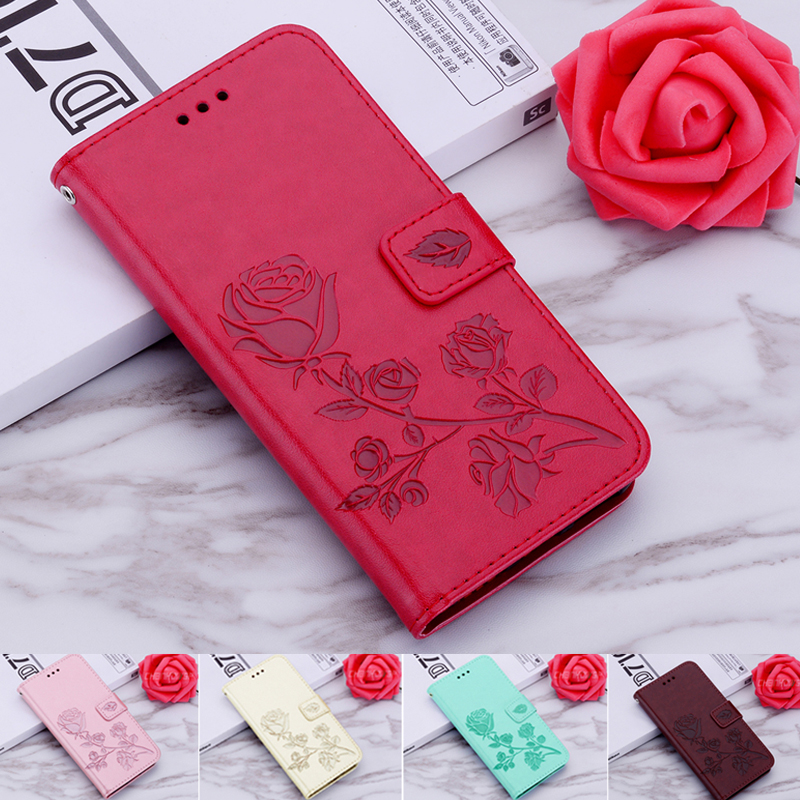 3D Rose Flip Wallet Leather Case For DEXP BL150 Case Coque Fundas For DEXP BL250 Back Cover Stand Book Case Capa