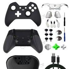 Piezas de reparación para XBOX ONE Elite Gamepad, carcasa frontal, carcasa trasera, botones de agarre de parachoques LB RB, LT RT gatillo