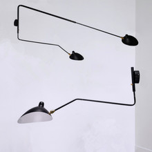Modern Adjustable Long Swing Arm Wall Lamp Lights For Reading 360 Degree Rotatable Flexible Vintage Black Metal Wall Lamp LED retro two swing arm wall lamp for bedroom bedside adjustable wall mount swing arm lamp