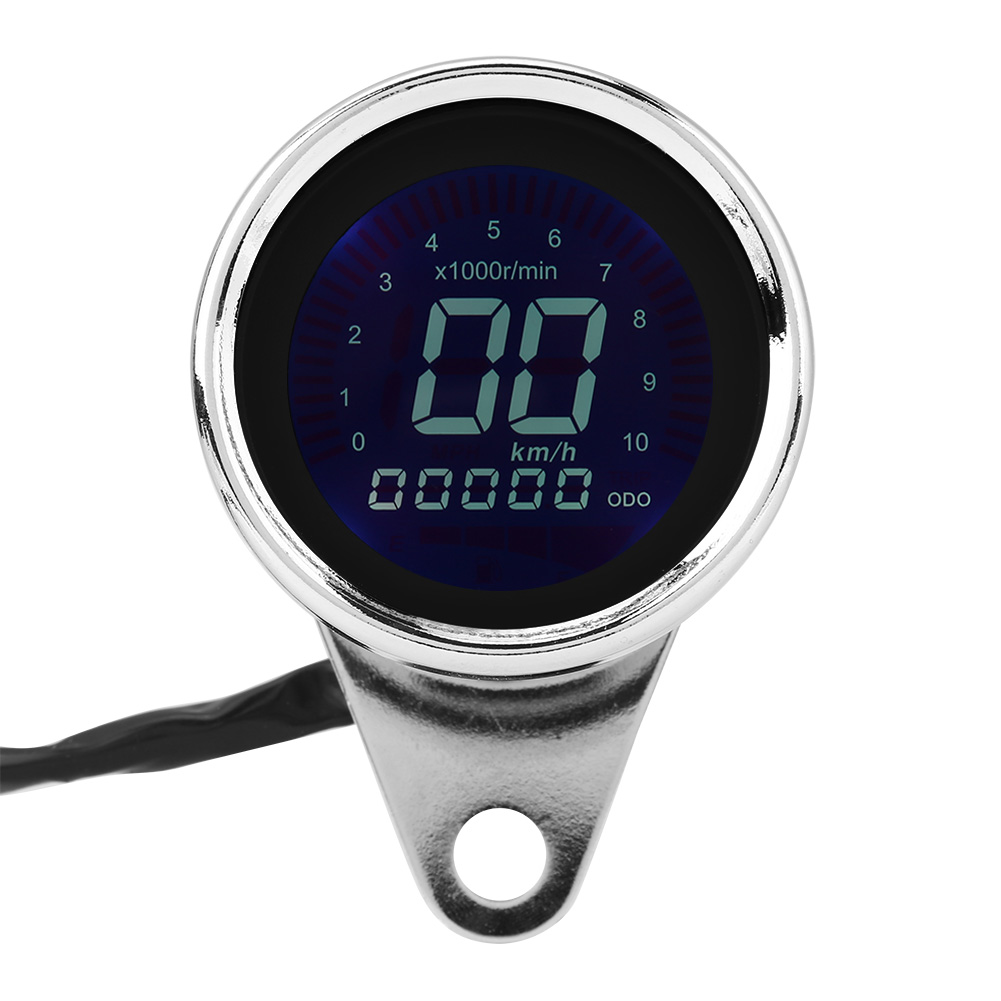 Universal Motorcycle Digital LED LCD Speedometer Tachometer Speed Gauge anti-glare for all motorcycles with 12V power supply image