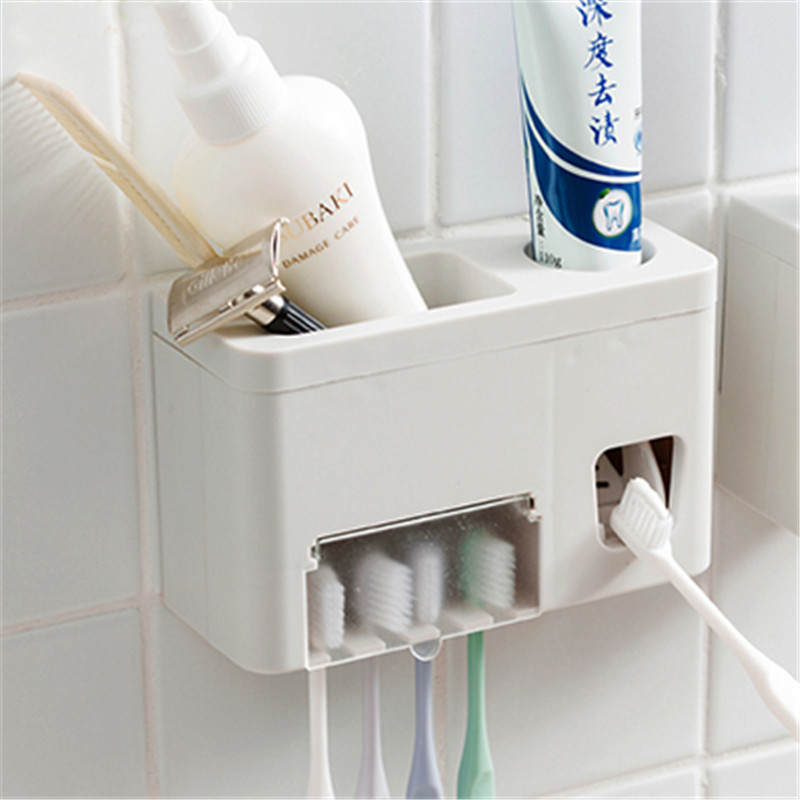 A - 1pcs Hands Free Automatic Squeezer Toothpaste Dispenser Squeeze Out Wall Mount Bathroom Accessories Squeezer