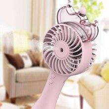 цены Handheld Water Spray Mist Fan USB Rechargeable Mini Cooling Fan Humidifier