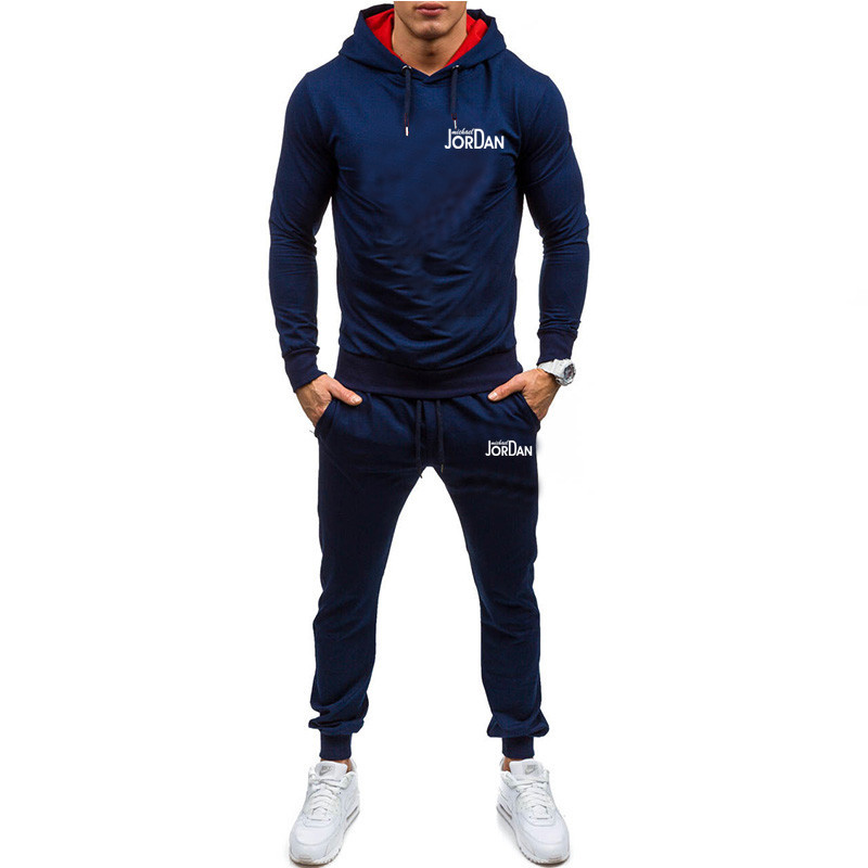Fashion Tracksuit Set Casual Man 2020 Jogger Sports Sportswear Suits Spring Autumn Two Pieces Hoodies Pants Set Tracksuit Male