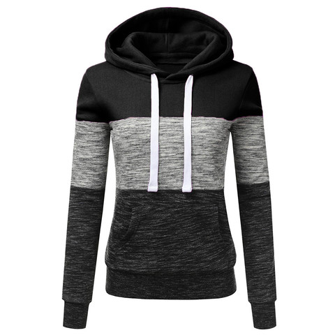 Hoodies Women Sweatshirts Fashion Womens Casual Hoodies Sweatshirt Patchwork Ladies Hooded Pullover Women Clothes Bluza Damska Multan