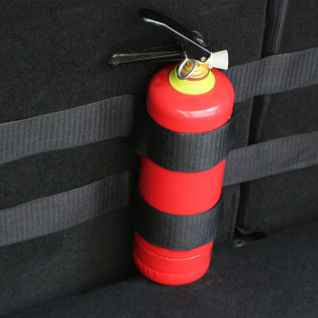 Zlord Car Trunk Fire Extinguisher Sticker for BMW 1 2 3 Series E90 E91 E92 E93 F30 F20 F10 F15 F13 M3 X1 X3 X4 X5 accessories image