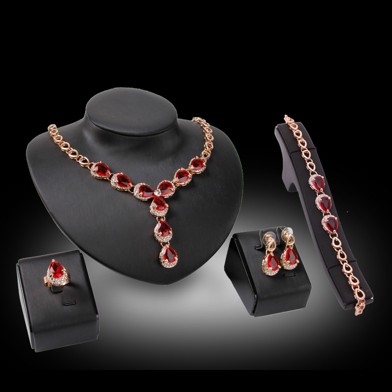 Luxury Cubic Zirconia <font><b>Nigeria</b></font> <font><b>Jewelry</b></font> <font><b>Sets</b></font> <font><b>For</b></font> <font><b>Women</b></font> Africa Choker Necklace Earrings <font><b>Set</b></font> Dubai Wedding Bridal <font><b>Womens</b></font> Accessorie image