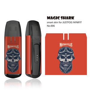 Image 5 - Magic Shark 2020 New Stereo 3M Leaf Skull Vendetta Tiger Umbrella Sticker Film Cover Case for JUSTFOG MINIFIT