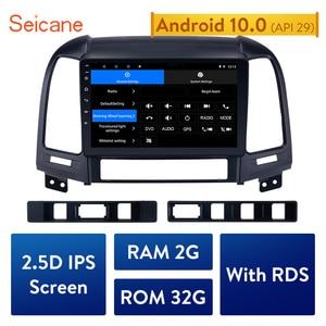 Image 1 - Seicane 2din Android 10.0 9 Inch Auto Multimedia Speler Gps Navi Voor Hyundai Santa Fe 2005 2006 2007 2008 2009 2010 2011 2012
