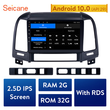 Seicane 2din Android 10.0  9 Inch  Car Multimedia player GPS Navi For HYUNDAI SANTA FE 2005 2006 2007 2008 2009 2010 2011 2012