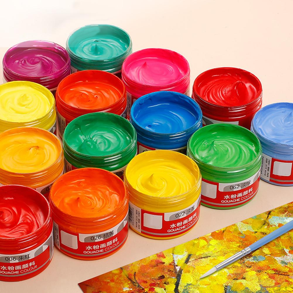 100ml/bottle Gouache Pigment Art Hand-painted Special Pigment School Art Special Paint Gorgeous Gouache Pigment