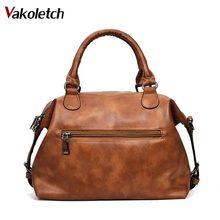 Women Bag 2020 Vintage Shoulder Bag Women Handbags Soft Leather Crossbody Bags For Women Ladies Boston Bolsa Feminina KL279