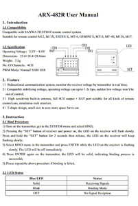 Image 5 - RSA04 ARX 482R FH3/ FH4T режим 4 канала совместимый receiverververtical Тип внутренней антенны специально для Sanwa MT4 MT 44 MT S M12S