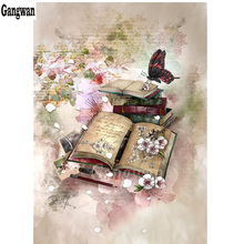 photo custom diamond painting butterfly book Flower abstract watercolor painting 3D embroidery full drill mosaic art home decor