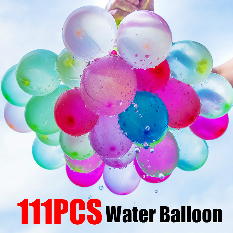 111pcs Water Balloon Amazing Filling Magic Balloon Children Water War Game Supplies Kids Summer Outdoor Beach Toy Party