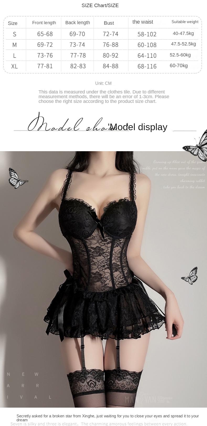sexy lace dress size chart