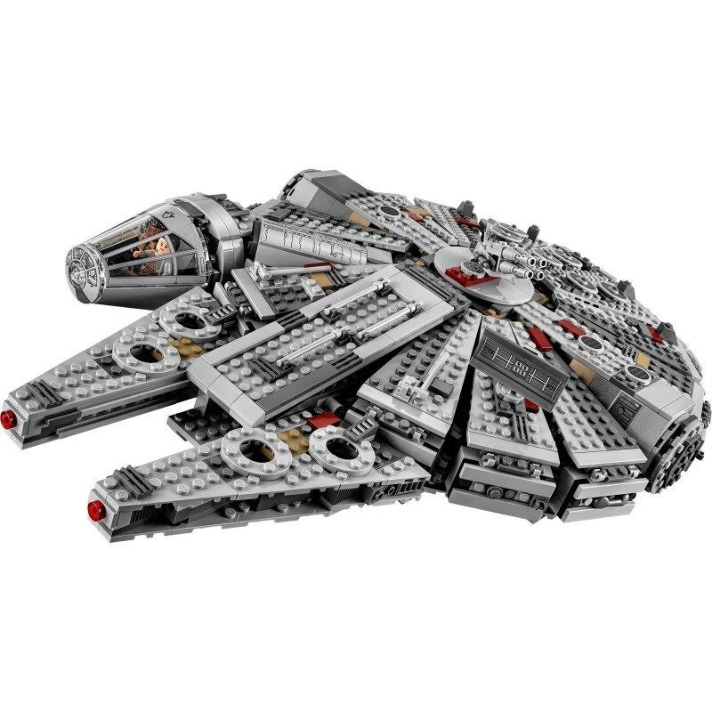 Star millénium 79211 figurines Falcon Wars blocs de construction briques inoffensives éclairer fit Compatible legoinglys Starwars jouets