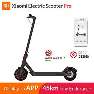2019 Xiaomi Mi Electric Scooter Mijia M365 Pro Smart E Scooter Skateboard Mini Foldable Hoverboard Longboard Adult 45km Battery(China)