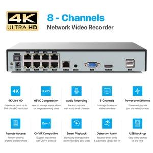 Image 4 - H.View 4K 울트라 HD 비디오 감시 키트 8MP poe ip 카메라 세트 8CH 돔 보안 카메라 CCTV 시스템 H.265 오디오 레코드 Nvr