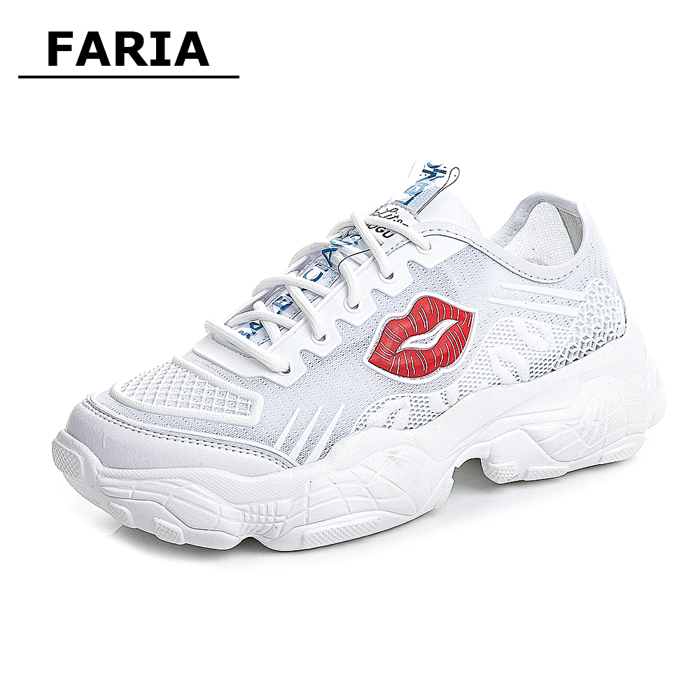 spring/summer Breathable tenis Trainers off white sneakers Running shoes chunky flat platform casual shoes women Female Shoes