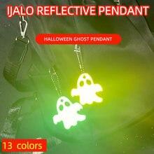 Llavero reflectante suave para fantasma de Halloween, accesorios de alta visibilidad