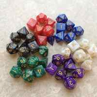 7 unids/set múltiples lados dados poliédricos # DnD Color mezclado jugando cubos de juego de dados Set + bolsa de almacenamiento para la fiesta de TRPG jugador para regalo