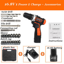 Anjieshun 12V Hand Electric Drill Rechargeable Electric Screwdriver Multi-function Electric Tool Mini Cordless Electric Drill