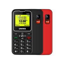 Günstigste Handy UNIWA V171 2G GSM MT6261D Dual SIM 1000mAh 1.77 ''0,08 MP Taschenlampe MP3 Studenten Kühlen handy VS V808G