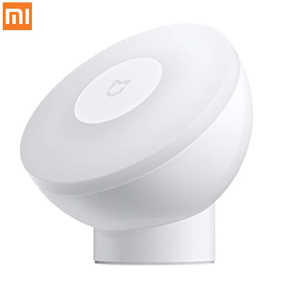 Xiaomi Night Light With Motion Sensor Mijia Night Lamp 2 Magnetic 360 Rotating Infrared Lighting Lamp For Home Warm Yellow Light