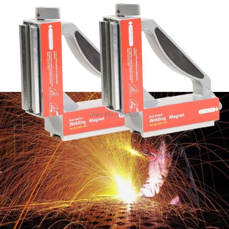 WM2-90S Dual Switch 90 Degree Square Magnet Squares On Off Strong Magnetic Holder Clamp Dropshiop Dropship