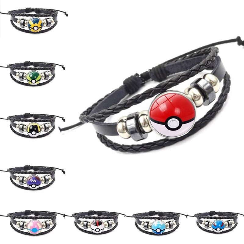 Anime Pokemon Bracelet Cosplay Prop Accessories Jewelry Poke Ball Wristband Pokemon Go