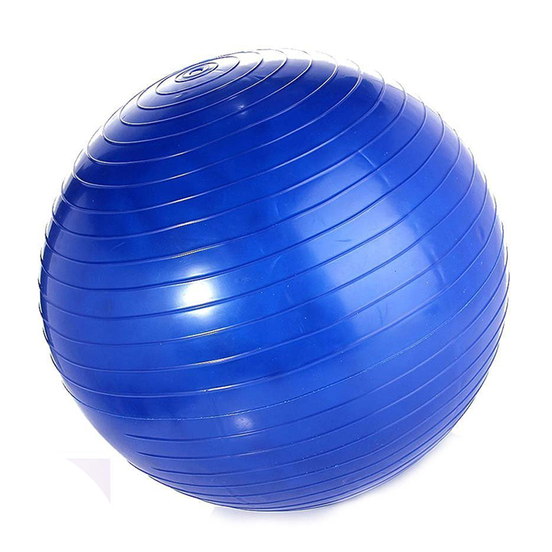 Exercise Ball Yoga Ball Free Pump- Burst Resistant Fitness Balls,75 Cm, Ideal For Yoga Pilaties Abs And Core Workouts (Blue 75 D