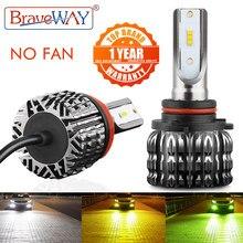 BraveWay – phares antibrouillard pour motos, sans ventilateur, 10 000lm, 12V, pour H4, H7, H1, H3, H8, H11, HB3, HB4, H27, H3, 9006