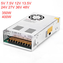 Alimentation LED, DC SMPS, 5V, 7.5V, 12V, 13.5V, 15V, 24V, 27V, 36V, 48V, 360W, 400W, nouvelle collection