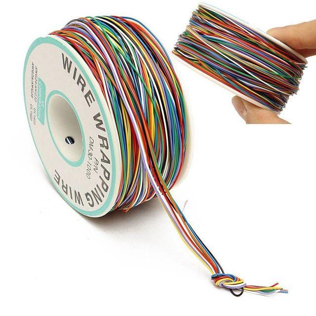250M 8-Wire kolorowe izolowane P/N B-30-1000 30AWG owijanie drutu osłonka na kable