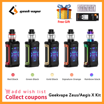 Geekvape Aegis X Kit 200W  5.5ml Cerberus tank Aegis X zeus kit Electronic Cigarette Vape Waterproof Zeus Kit VS Aegis Solo new geekvape nova tc kit 200w with 5 5 4ml cerberus subohm tank