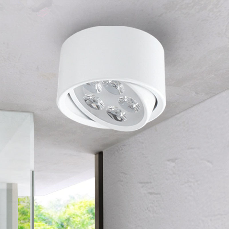 Open mounted LED Downlight 3/5/7W Surface Mounted Spotlights TV Backdrop Hallway Ceiling Lamp Spotlights     - title=