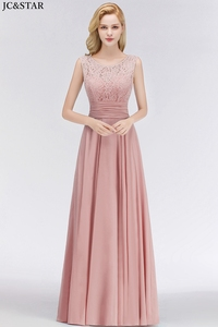 Image 5 - Vestido madrinha new lace chiffon Scoop ALine turquoise bridesmaid dress long vestidos invitada boda mujer cheap robe de mariee