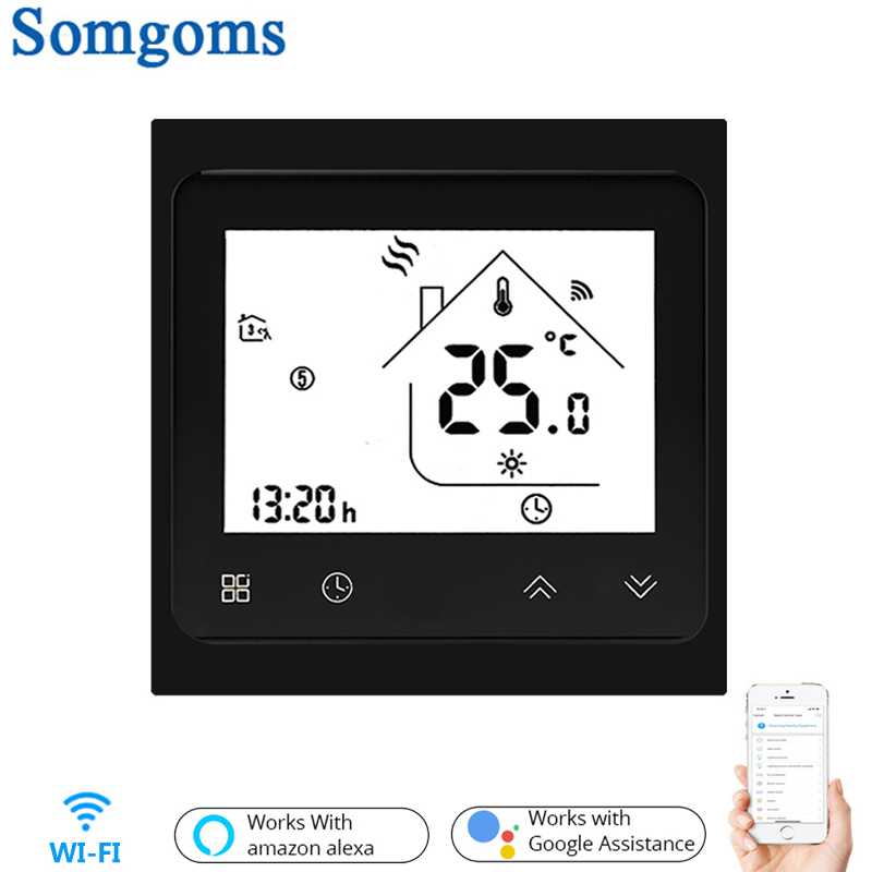 Smart Thermostat WiFi Temperature Controller Smart Life APP Remote Control For Electric Heating Works With Alexa Google Home 16A