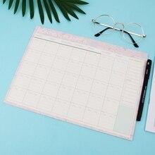 Ежемесячный бумажный коврик 20 листов Сделай Сам планировщик стол, подарок, школьные офисные принадлежности