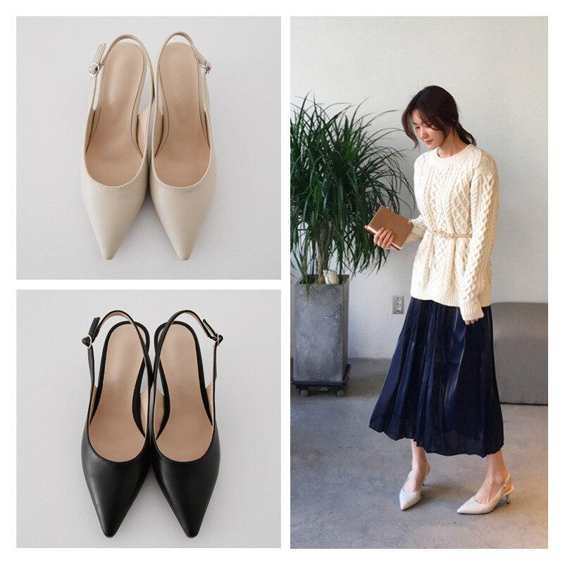 NEW PUMPS 6CM/8CM/10CM Autumn Popular Women's Shoes New High Heels Stiletto Hollow Pointed Korean Fashion Autumn Shoes