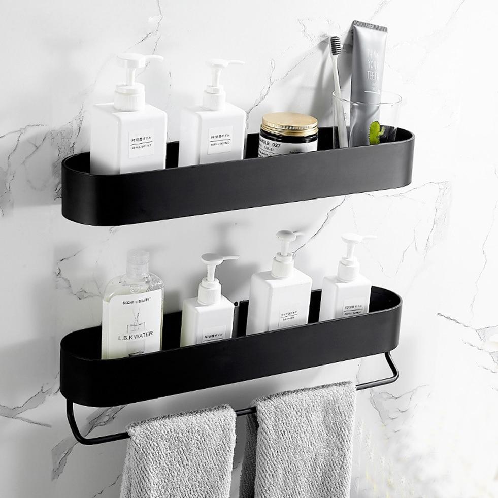 Shower Caddy Black Bathroom Shelf With