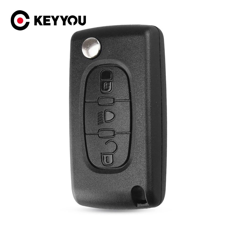 Брелок для ключей KEYYOU 3 кнопки чехол для Citroen C4 Picasso C5 C6 светильник с символом и значком Бесплатная доставка