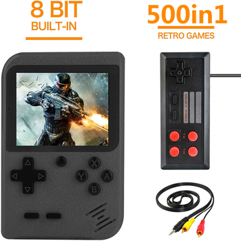цена на Retro Game Video Game Console Built-in 500 Classic Games 3 Inch Handheld Game Players Portable Pocket Mini Arcade Games Console
