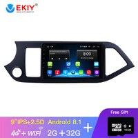 EKIY 9'' IPS Android Car DvD GPS Multimedia Player For 2011 2012 2013 2014 KIA PICANTO Morning GPS Head Unit Wifi 4Core No 2 Din