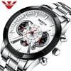 NIBOSI Mens Watches Luxury Brand Business Men's Watch 2021 Luminous Date Waterproof Chronograph Quartz Clock Relogio Masculino