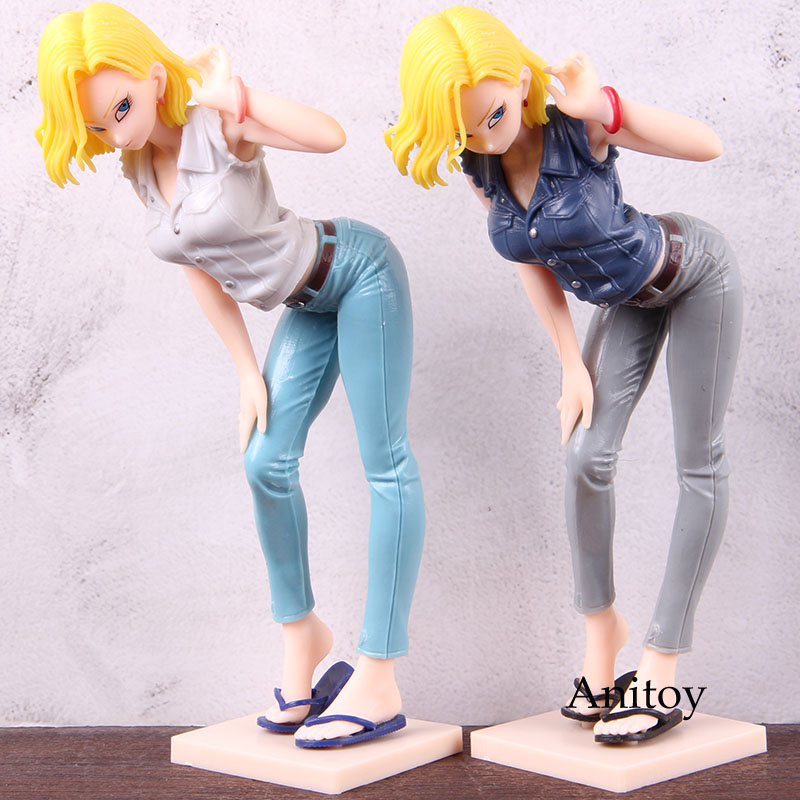 Dragon Ball Z Anime Figure Lazuli Glitter & Glamours Android 18 Dragon Ball Android 18 Action Figure Collectible Model Toy