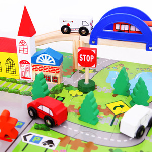 40pcs Kids City Traffic Scenes