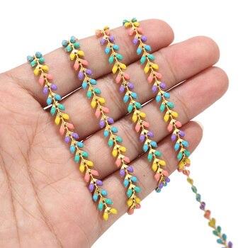 цена 2 feet Enamel Brass Chevron Chain 6MM Gold Plated Arrow Chains for Anklet Necklace Bracelet Jewelry Making Findings онлайн в 2017 году