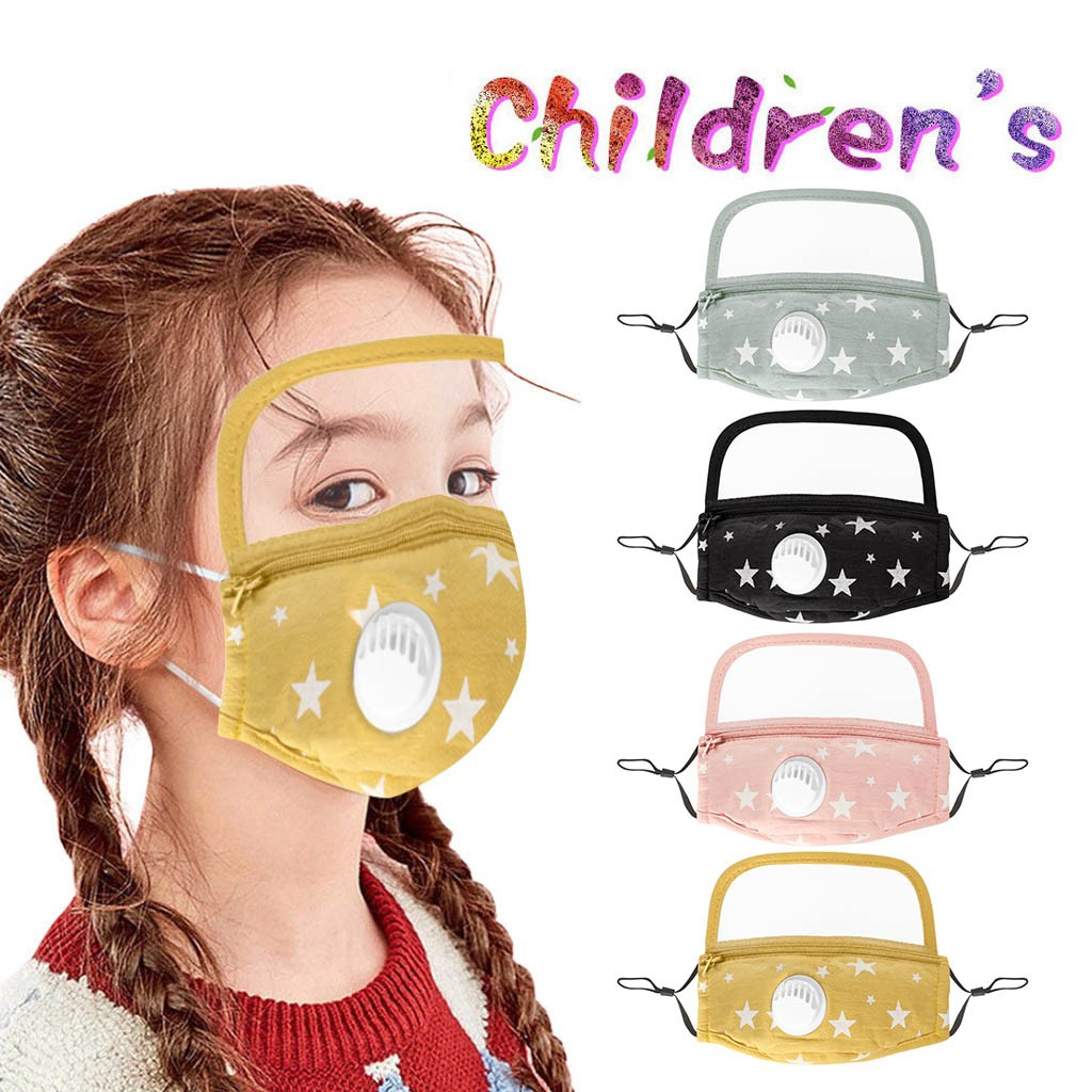 kids'-child-stars-print-faceshield-washable-reusable-scarf-f-a-c-e-m-a-s-k-with-filter-and-detachable-eye-shield-cubrebocas